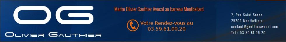 Maitre Olivier Gauthier Avocat au barreau Montbeliard